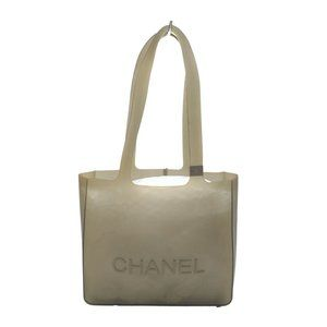 Auth Chanel Tote Bag Gray Rubber #N79719H72